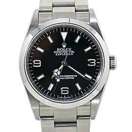 Rolex Explorer 114270 Unpolished Y serial SS Automatic Black Dial Mens Watch36MM