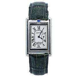 Cartier Tank Basculante XL 2522 Stainless Steel Date Mens Quartz Watch 26MM