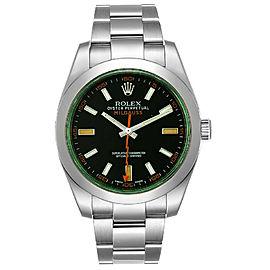 Rolex Milgauss 116400GV Black Dial Green Crystal Watch NEW 2021 BoxPaper 40mm