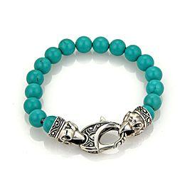Stephen Webster 10mm Turquoise Bead Sterling Silver Bracelet