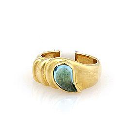 Chopard Tear Drop Blue Topaz 18k Yellow Gold Band Ring