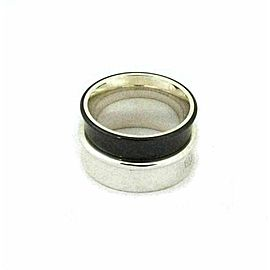Tiffany & Co. 1837 Sterling Titanium Double Concave Stack Band Ring