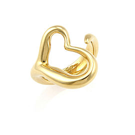 Tiffany & Co. Elsa Peretti Open Heart 18k Yellow Gold Curved Band Ring
