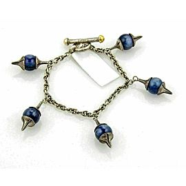 Gurhan Gatsby Sterling Silver Kyanite 5 Charms Chain Toggle Bracelet Rt. $880