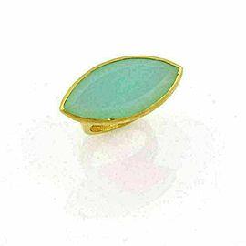 Gurhan Pandora 24k Gold Marquise Aqua Chalcedony Ring Rt. $5,700