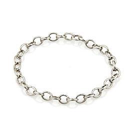 "Tiffany & Co. 950 Platinum Oval Clasping Link Bracelet 7.5"" Long"