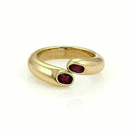 Cartier Ellipse Ruby Bypass Ring in 18k Yellow Gold Size 51 US 5.5