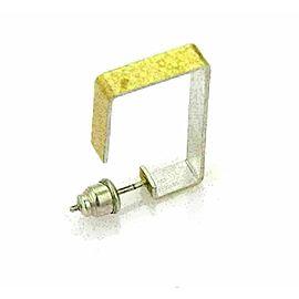 Gurhan Sterling Silver & 24k Gold Rectangular Hoop Earrings