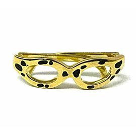 H.Stern Glitter 18k Yellow Gold Enamel Sunglasses Charm Pendant