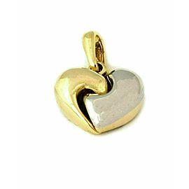 Chimento 18k Two Tone Gold Puff Heart Pendant