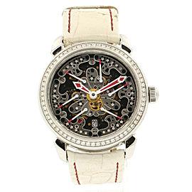 Pierre DeRoche White Grandcliff Milady Royal Retro Diamond 42.5mm Watch