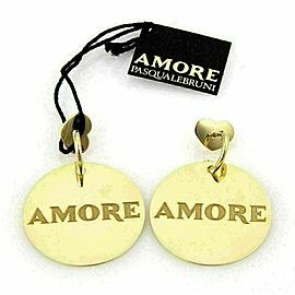 Pasquale Bruni 18K Yellow Gold AMORE Large Disc Drop Dangle Earrings