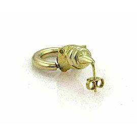 Citra 18k Yellow Gold Panther Door Knocker Dangle Earrings