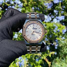 Audemars Piguet 15450sr Royal Oak Stainless Steel and Rose 37mm Watch COMPLETE