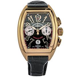 Franck Muller King Conquistador Men's Chronograph Watch 8002 CC 18k Rose Gold