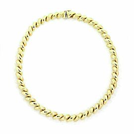 San Marco Italy 14k Yellow Gold Macaroni Link Necklace