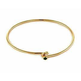 Tiffany & Co. Emerald 18k Yellow Gold Hook & Eye Bangle