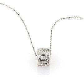Pasquale Bruni Amore Diamond 18k White Gold Mini Ring Necklace