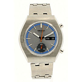 SEIKO chronograph DAY-DATE Stainless 40mm Men's Watch Ref: 6139-8029