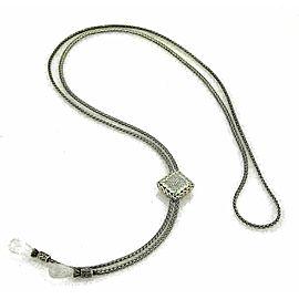 John Hardy Diamond Clear Quartz Sterling Silver Square Tassel Pendant Necklace