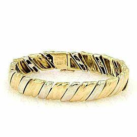 Van Cleef & Arpels VCA 18k Two Tone Gold Fancy Link Bracelet