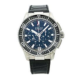 Zenith El Primero Stratos 03.2060.405 Chronograph Watch 45.5mm with Box&Paper