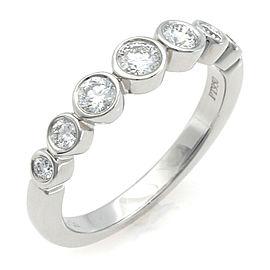 TIFFANY & Co. Pt950 Platinum Diamond Jazz Graduation Ring CHAT-942