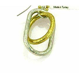 Gurhan Sterling & 24k Gold Overlay Double Oval Ring Dangle Earrings