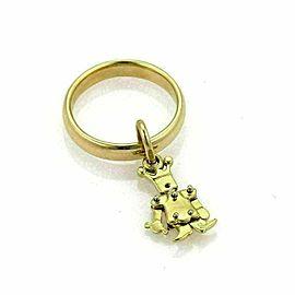 Pomellato Animated Figure Charm 18k Yellow Gold Band Ring