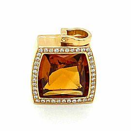 Cartier La Dona Diamond & Citrine 18k Yellow Gold Pendant