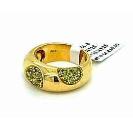 Koesia Peridot 18k Yellow Gold 8.5mm Dome Band Ring