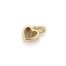 Cartier Diamond Heart 18k Yellow Gold Charm Pendant