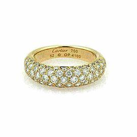 Cartier Étincelle Diamond 18k Yellow Gold Band Ring