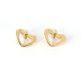 Mikimoto 4mm Akoya Pearl Mini Jacket Heart 18k Yellow Gold Stud Earrings
