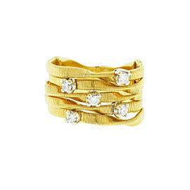 Marco Bicego 18k Yellow Gold Five Diamond Band Ring