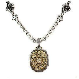 Konstantino Diamond 18k Gold & Sterling Silver Floral Pendant Necklace