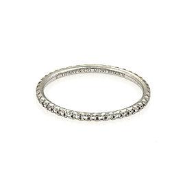 Tiffany & Co. Metro Diamond 18k White Gold Band Ring