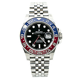 Rolex GMT-Master II 126710BLRO New Mark I Pepsi Automatic Watch Box & Card 40MM