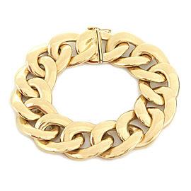 Estate 14k Yellow Gold 20mm Wide Curb Link Bracelet