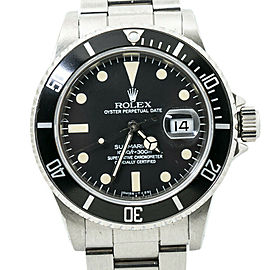 Rolex Submariner 16800 Vintage Mens Watch Stainless Patina Matte Dial 40MM
