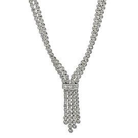 7.50 Carat Diamond Drop Necklace in 18k White Gold