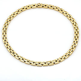 Cartier 18k Yellow Gold Maillon Necklace Panthere 3-Row Link Chain