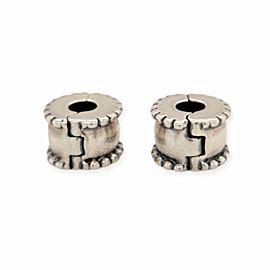 PANDORA Steeling Silver 925 ALE White Lock Bead Charm