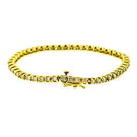 14k Yellow Gold Diamond Tennis Bracelet Aprox. 2.00 ctw