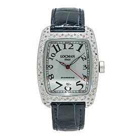 Locman Italy Tonneau 488 Unisex Quartz Aluminium 1ct 20 diamonds Watch