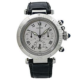 Cartier Pasha 1050 Chronograph Quartz Stainless Steel Unisex Watch 38mm