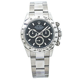 Rolex Daytona 116520 Rehaut V 2009 Fat Buckle Cosmograph Black Dial Watch 40MM