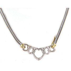 Tiffany & Co. Five Hearts Sterling Silver & 18k Gold Snake Necklace