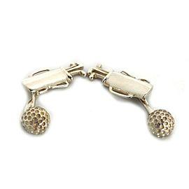 Tiffany & Co. Sterling Silver Golf Bag & Ball Flex Chain Cufflinks