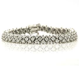 3-Row Diamond Tennis Bracelet in 14k White Gold ( 5.50 ct tw )